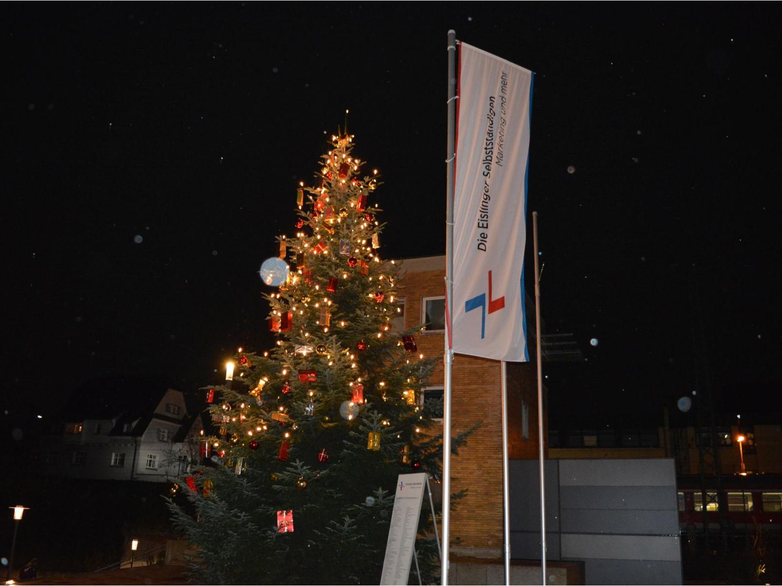 Weihnachtsbaum der Eislinger Selbstständigen