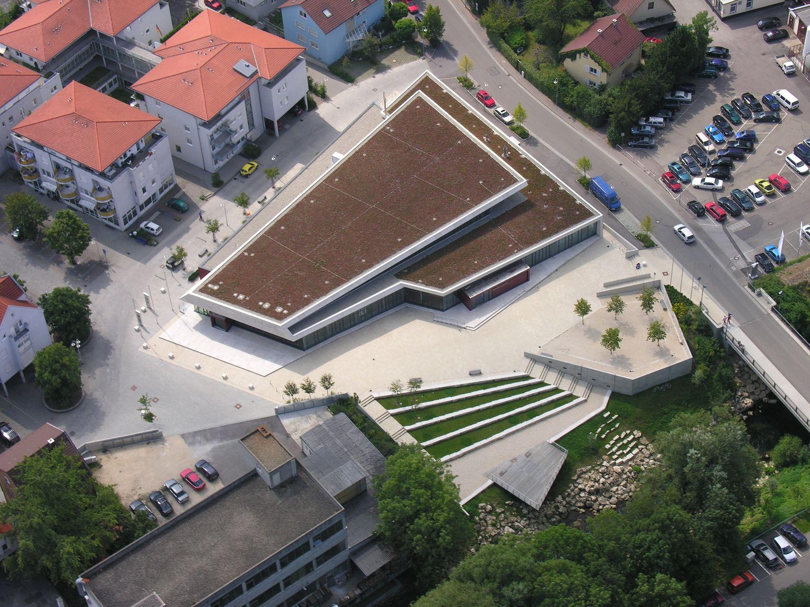 Luftaufnahme Stadthalle