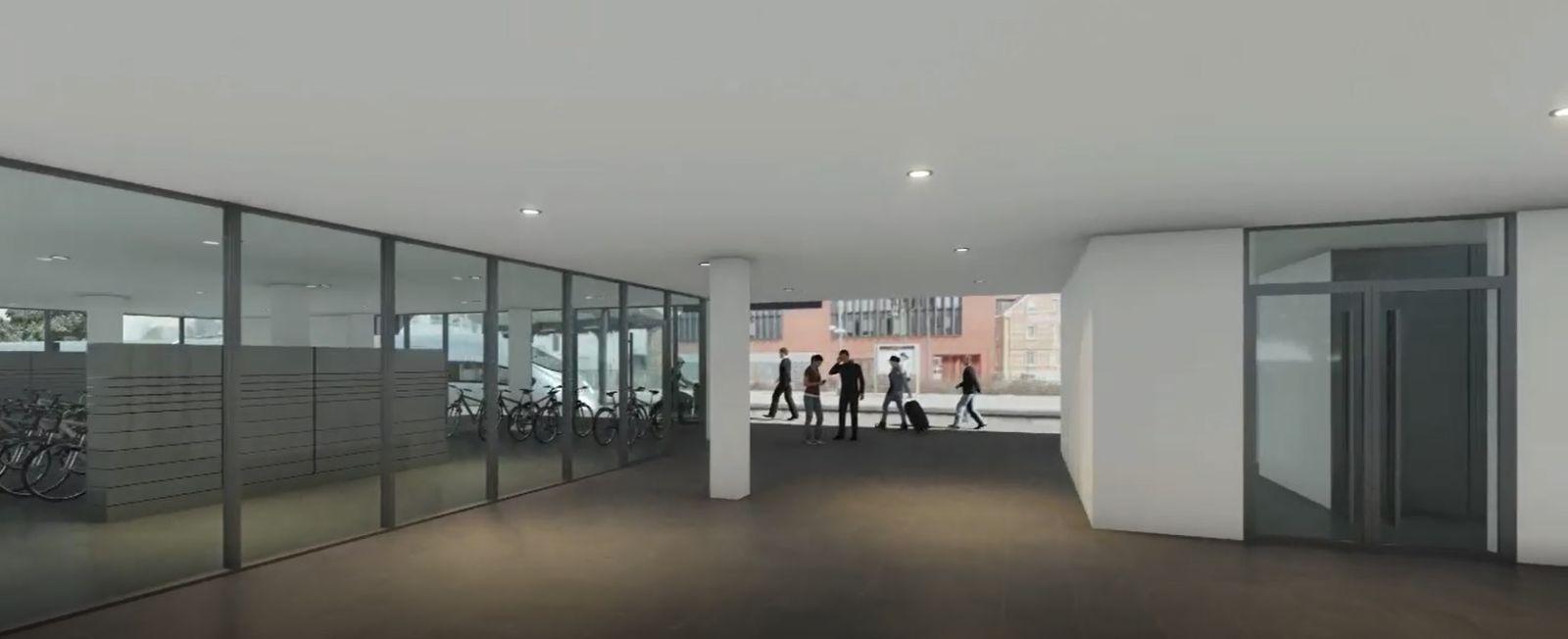 Animation des geplanten Mobilitätspunktes