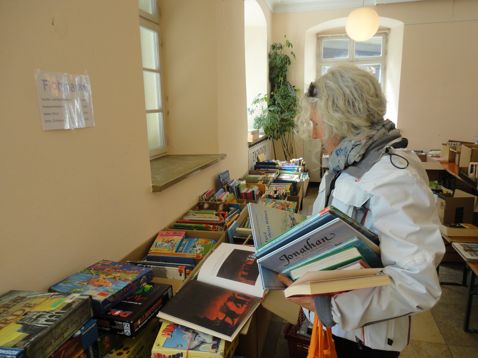 Bücherflohmarkt in der Stadtbücherei