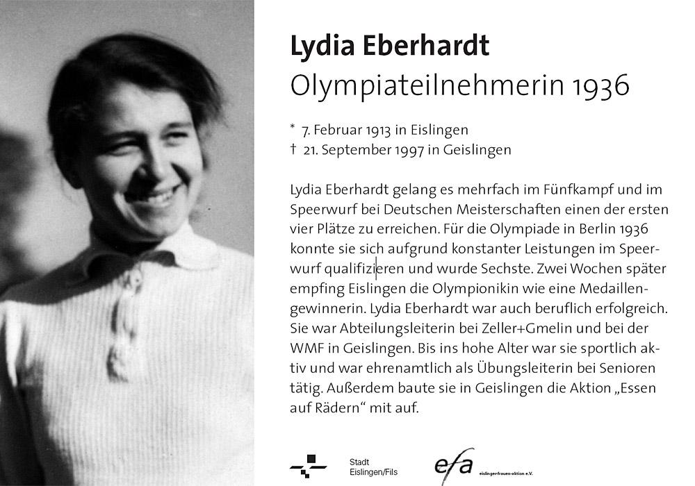 Hinweistafel Lydia Eberhardt