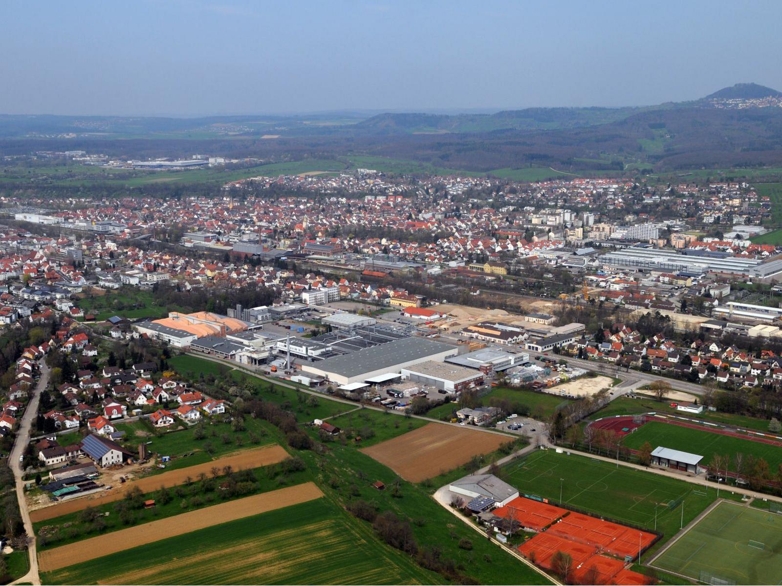 Wohn- und Gewerbeflächen in Eislingen aus der Luft