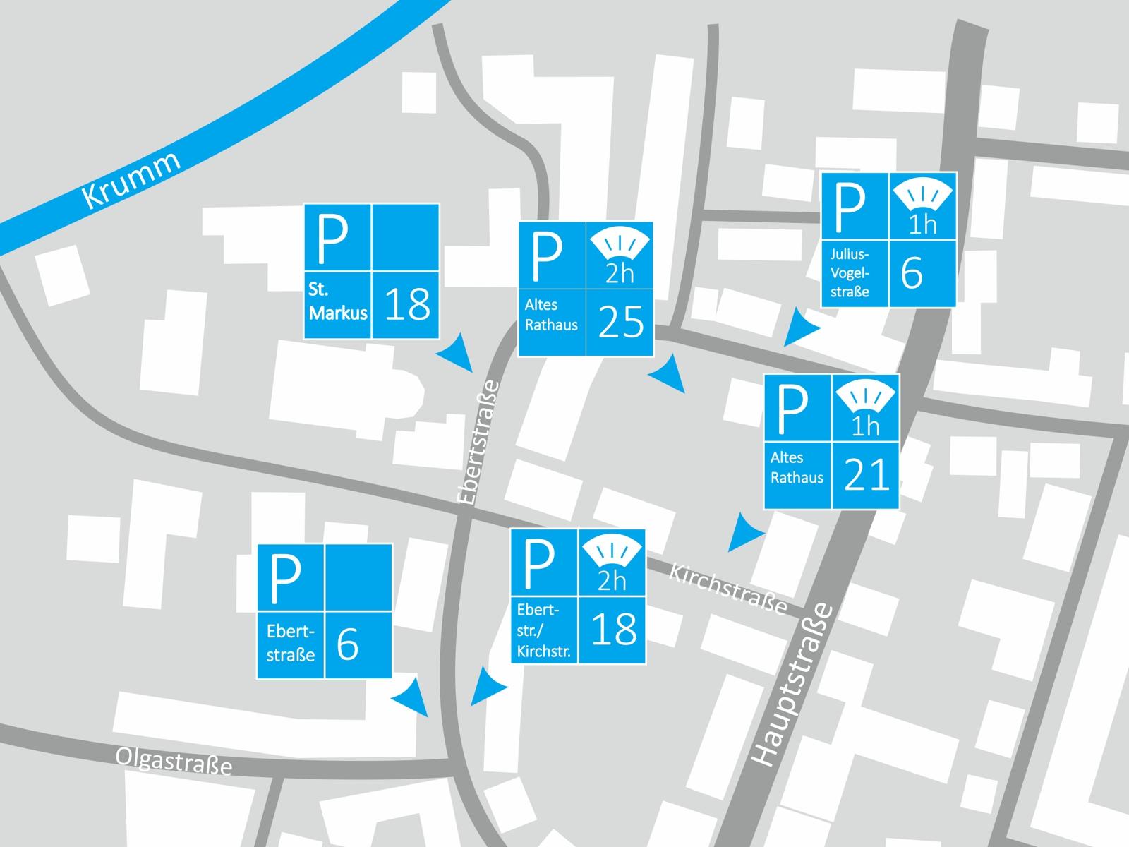Parken Bereich St. Markus/Ebertstraße