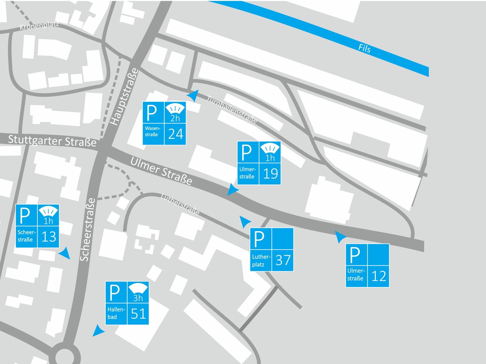 Parken Bereich Ulmer Straße/Scheerstraße