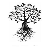 """Logo der Veranstaltungsreihe """"Meine Wurzeln"""""""