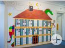 Wandbemalung in der Stadtbücherei