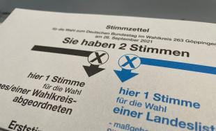 Stimmzettel der Bundestagswahl