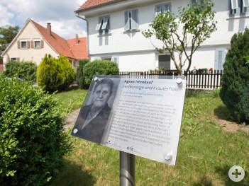 Eislinger Frauenwege Gedenktafel Agnes Irtenkauf