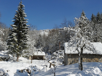 Winterlandschaft in Oyonnax