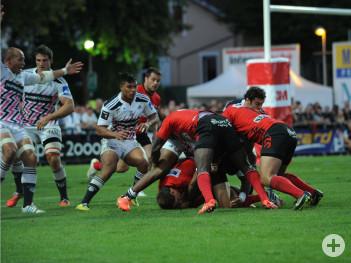 Rugbyspiel im Stadion von Oyonnax