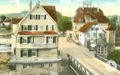 Blick auf die Filsbrücke im jahr 1917