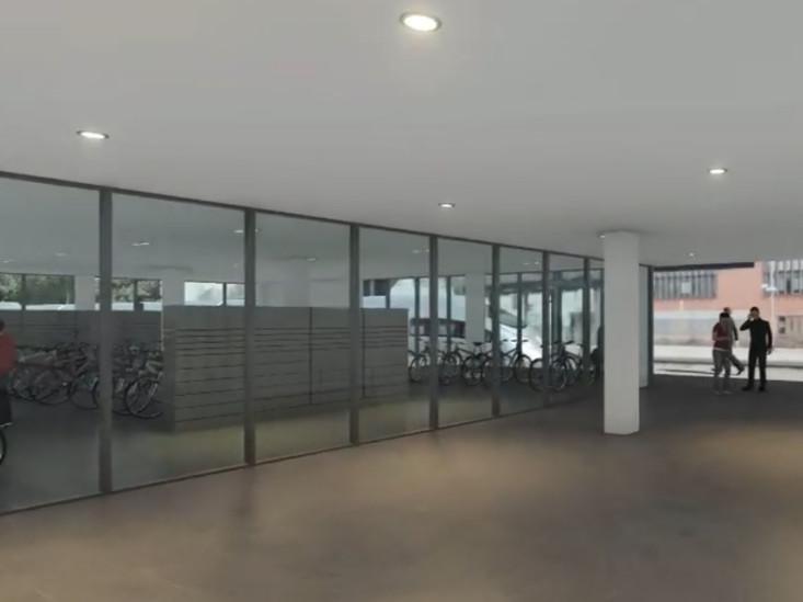 Visualisierung Fahrradparkhaus