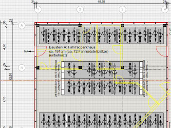 Plan Fahrradparkhaus