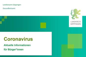 Logo Coronavirus Landkreis Göppingen