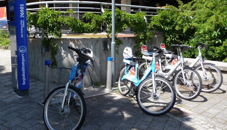 Fahrrad- und Pedelec-Verleihstation am Mobilitätspunkt