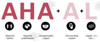 AHA+L Regeln Corona
